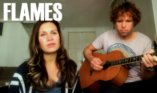 David Guetta & Sia - Flames (acoustic RoMi Cage cover)